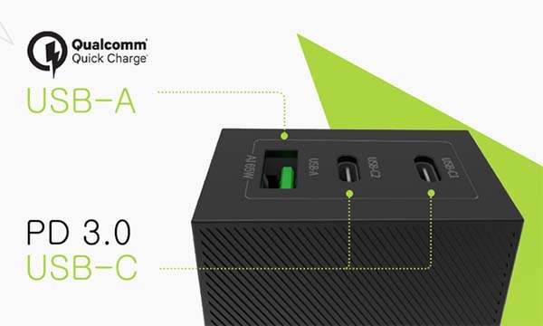 Sharge Ultra Compact 65W USB/ USB-C Wall Charger