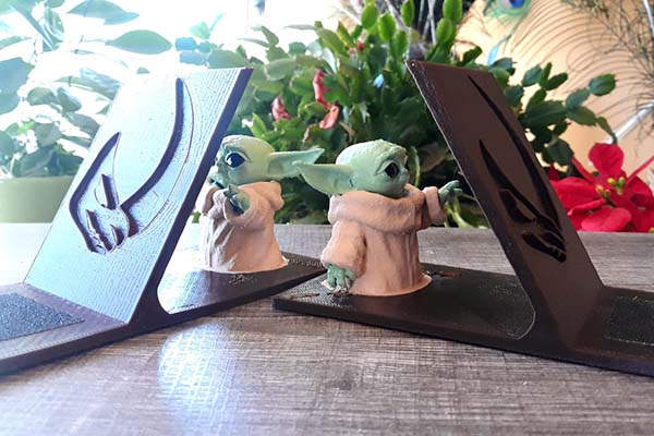 Star Wars Baby Yoda 3D Printed Book Holder