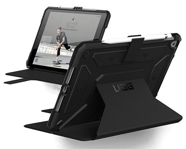 Urban Armor Gear Folio 10.2-Inch iPad Case with Apple Pencil Holder