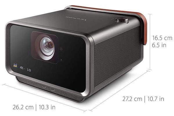 ViewSonic X10-4KE Smart 4K LED Projector Compatible with Amazon Alexa and Google Assistant