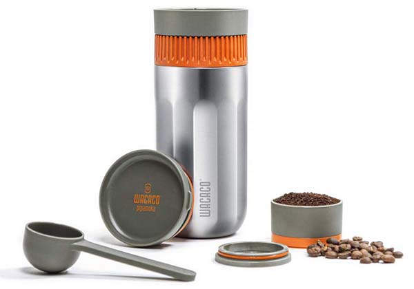 Wacaco Pipamoka All-In-One Portable Coffee Maker with Insulated Travel Mug
