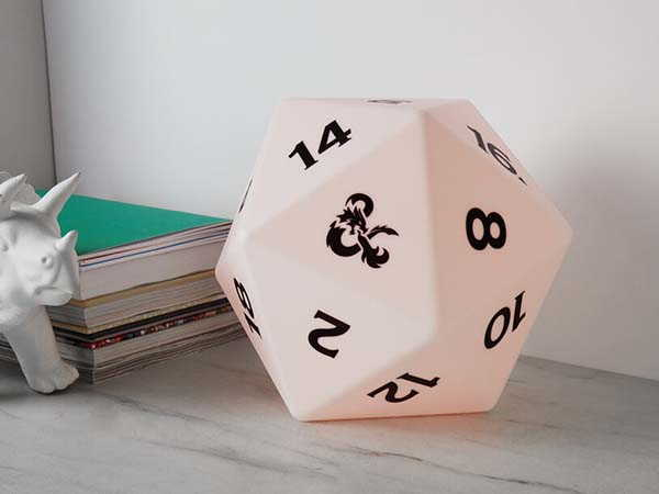 Dungeons and Dragons D20 LED Light