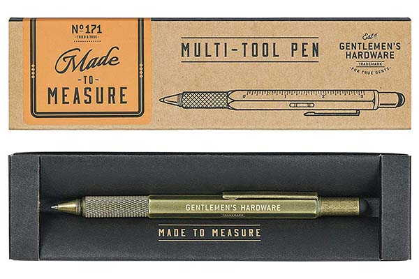 The Handy Stainless Steel Multitool Pen by Gentlemen's Hardware