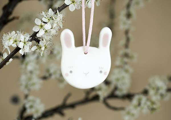 Handmade Ceramic Easter Hanging Decorations