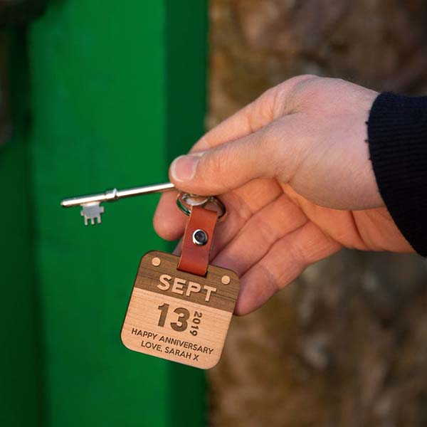 Handmade Personalized Calendar Keychain