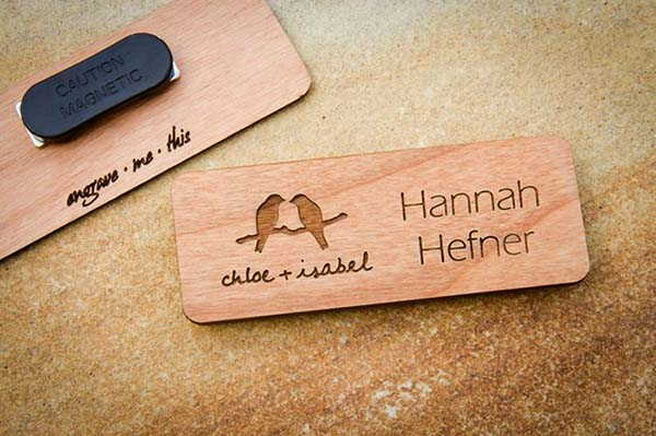 Handmade Personalized Magnetic Name Tag with Logo