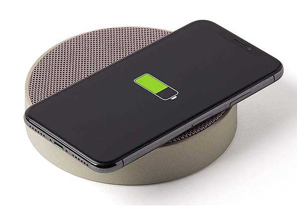 Lexon Oslo Energy Wireless Charging Dock with Bluetooth Speaker