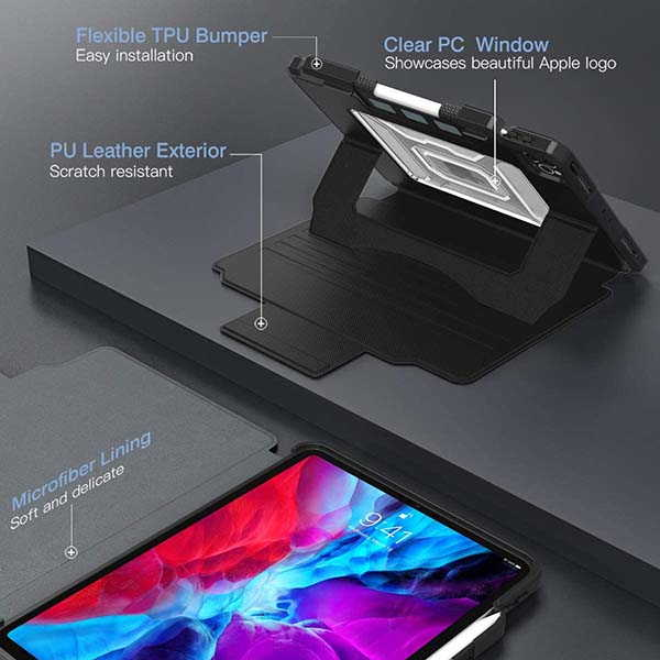 Moko Fit 12.9 iPad Pro Case with Multi-Angle Magnetic Stand