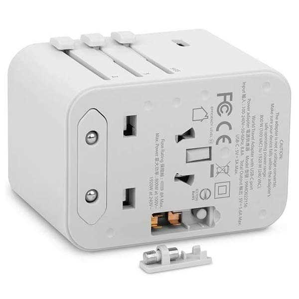 Moshi World Travel Adapter with USB-C and USB-A Ports