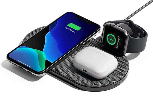 Native Union Drop XL Wireless Charging Pad with Detachable Apple Watch Charger