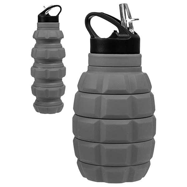 Silapse Collapsible Water Bottle Looks Like Grenade