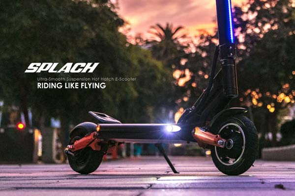 Splach Electric Scooter with Ultra-Smooth Suspension System