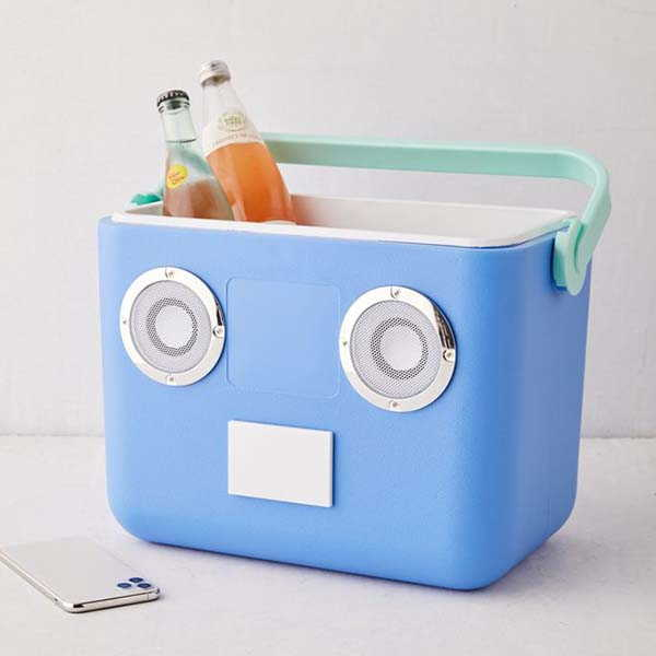Sunnylife Beach Portable Cooler with Bluetooth Speaker and FM Radio
