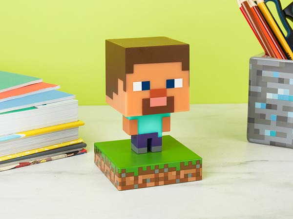 The Pixelated Icon LED Light Features 3 Minecraft Characters