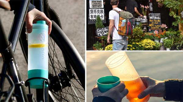 Undabottle 3-In-1 Water Bottle with Storage Compartment
