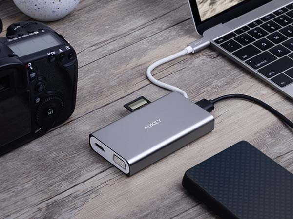 Aukey CB-C55 8-In-1 USB-C Hub with 60W Power Delivery