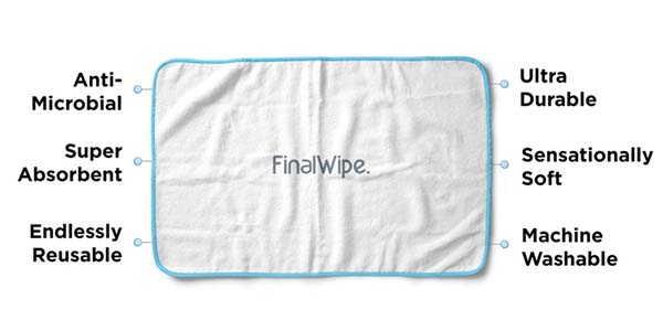 FinalWipe Reusable Sanitizing Wipes with Home and Travel Containers