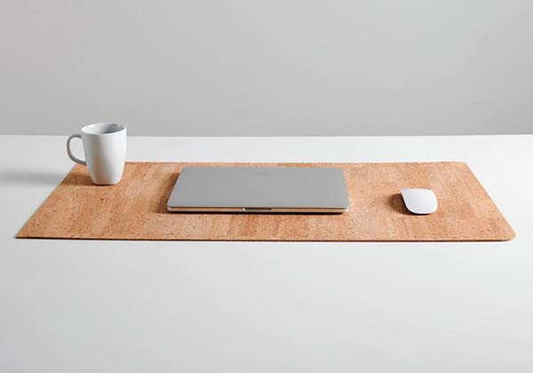 Handmade Cork Leather Desk Mat by BUproducts