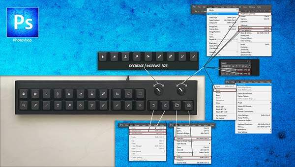 Handmade Customizable Keypad for Photoshop, Illustrator and More