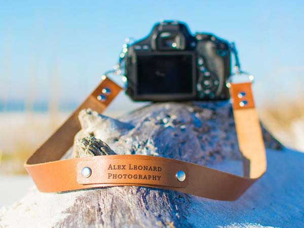 Handmade Personalized Leather Camera Strap