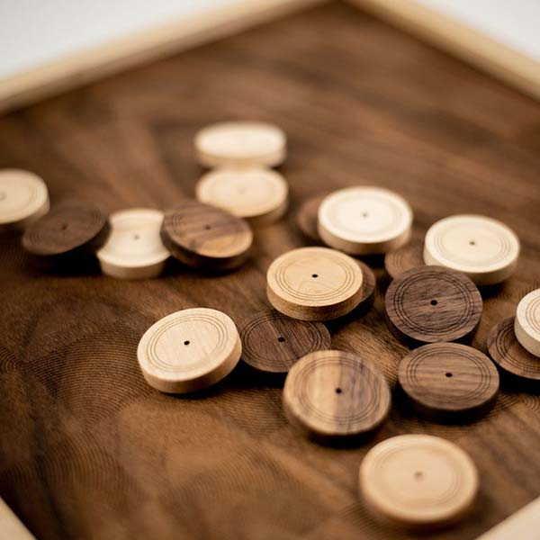 Handmade Wooden Checkers Set