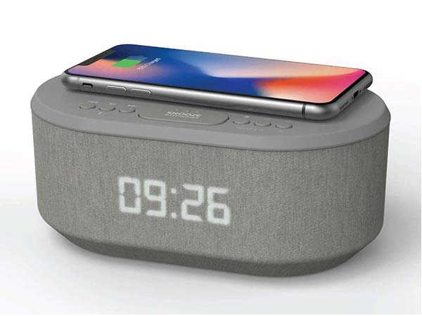 i-box Bedside Bluetooth Speaker Radio with Wireless Charger