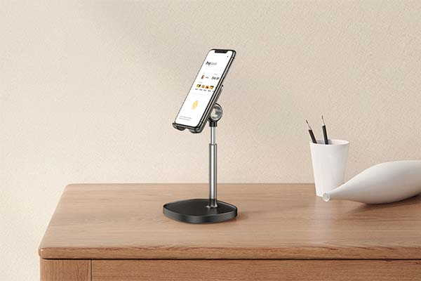 Lisen Aluminum Phone and Tablet Stand with Weighted Base
