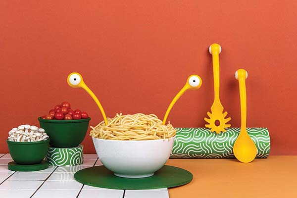 Pasta Monsters Salad and Pasta Server by OTOTO Design