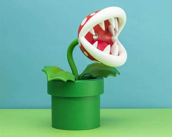 Super Mario Bro LED Lamp Inspired by Piranha Plant