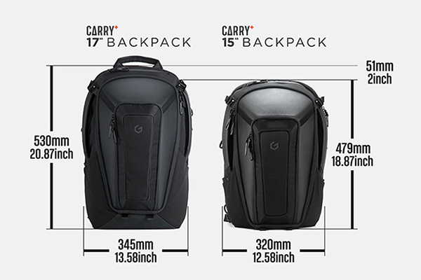 System G Carry+ Laptop Backpack with Hard Shell Protection