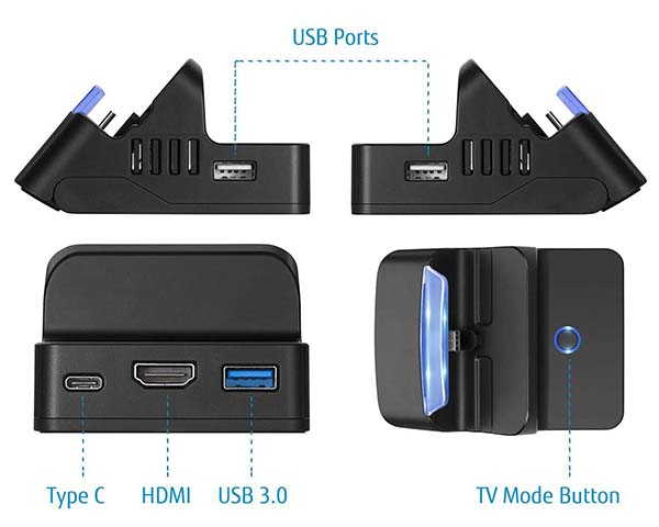 The Portable Switch Dock with 3 USB Ports, USB-C and HDMI