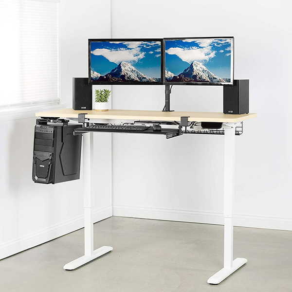 VIVO Electric Stand Up Desk with Spacious Tabletop