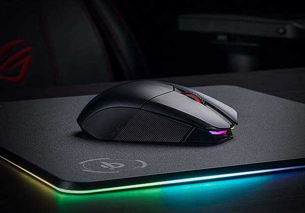 ASUS ROG Chakram Wireless Gaming Mouse with Aura Sync RGB Lighting