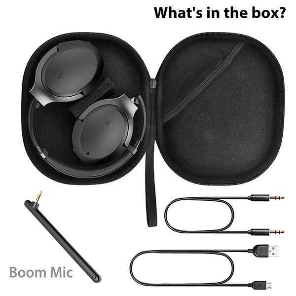 Avantree Aria Pro ANC Bluetooth Headphones with Detachable Boom Mic
