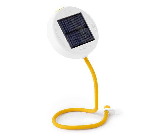 Core Solar-Powered LED Task Light with Flexible Arm