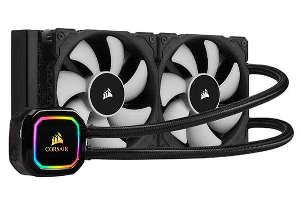 Corsair iCUE H100i RGB Pro XT Liquid CPU Cooler with Dual PWM Fans