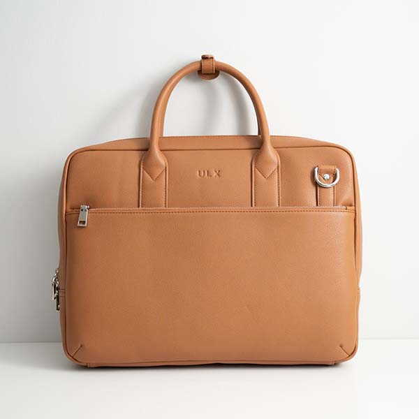Handmade Commuter Leather Briefcase by ULX