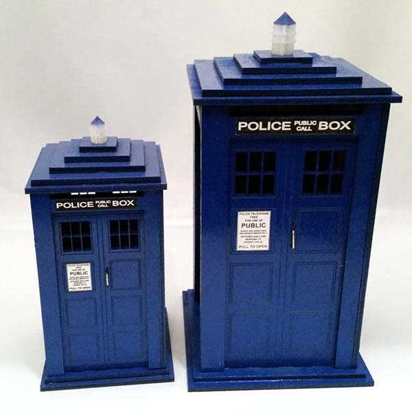 Handmade Doctor Who Tardis Coin Bank