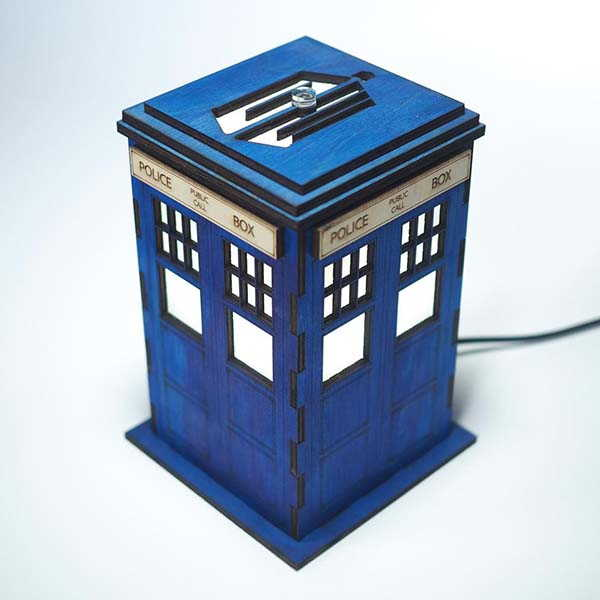 Handmade Doctor Who Tardis LED Night Light with Personalization