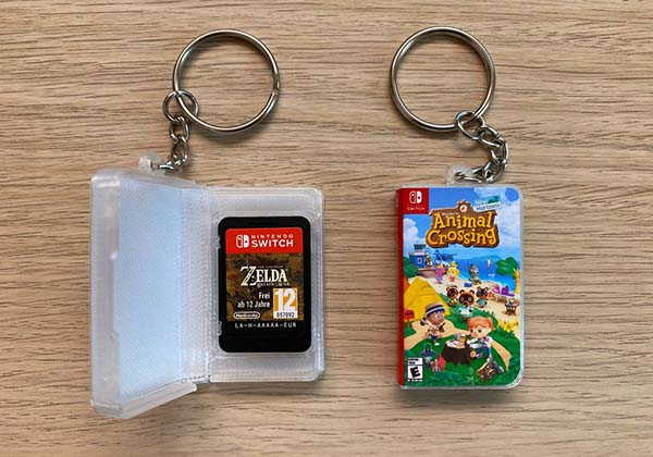 Handmade Mini Nintendo Switch Game Card Case with Keychain