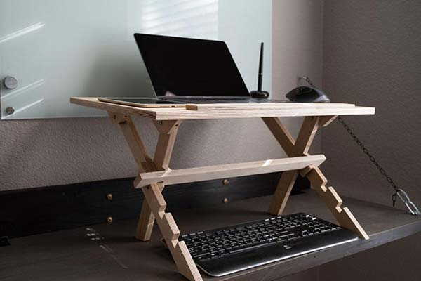 Handmade Multi-Functional Wooden Sit-to-Stand Desk