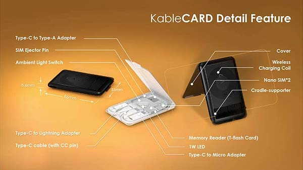 KableCARD All-In-One Charging Cable Case with Wireless Charging Pad