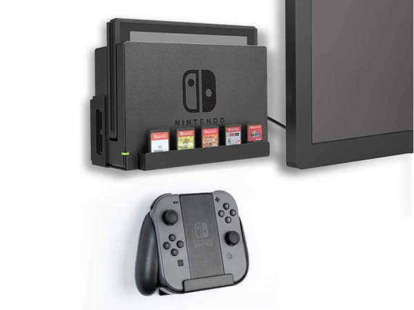 Monzlteck Nintendo Switch Wall Mount with Game Card Holder