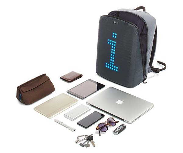 Pix App-Enabled LED Backpack Powered by Any Portable Power Bank