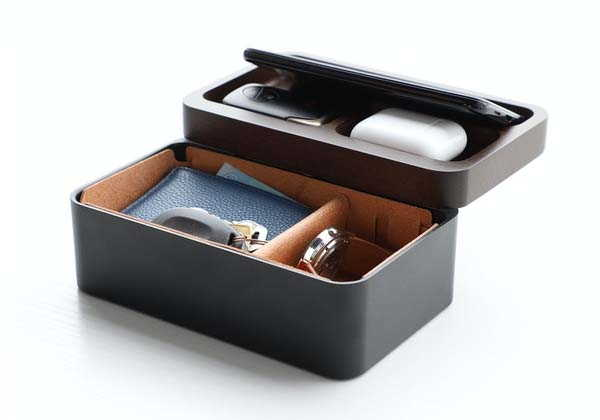 Revov Tray Box Desktop Organizer with Magnetic Rotating Mechanism
