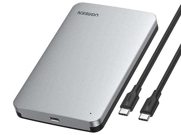 UGREEN Aluminum USB-C Hard Drive Enclosure for 2.5-Inch SSD and HHD