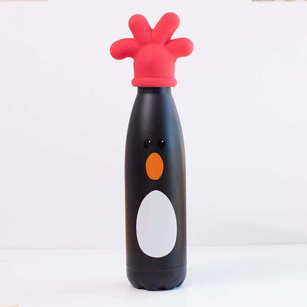 Wallace & Gromit Feathers McGraw Travel Bottle with Rubber-Glove Lid