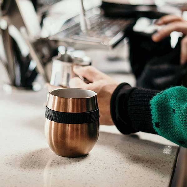 Cafe Concetto Stainless Steel Coffee Cup with Lid