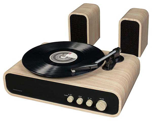 Crosley Gig Retro Bluetooth Turntable with Stereo Speakers