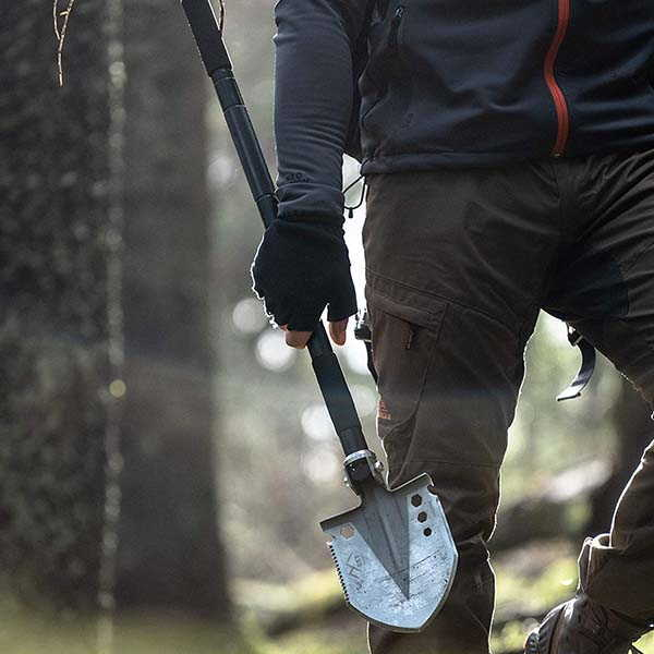 EST Gear Tactical Shovel with Detachable Saw, Axe, Hunting Spear and More